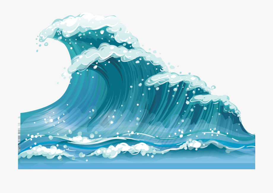 Waves clipart printable. Wind wave clip art