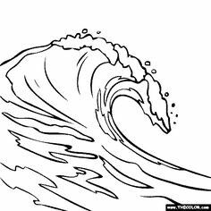 Pin by eric west. Waves clipart wave outline