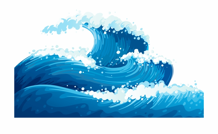 No background ocean clip. Waves clipart lake wave