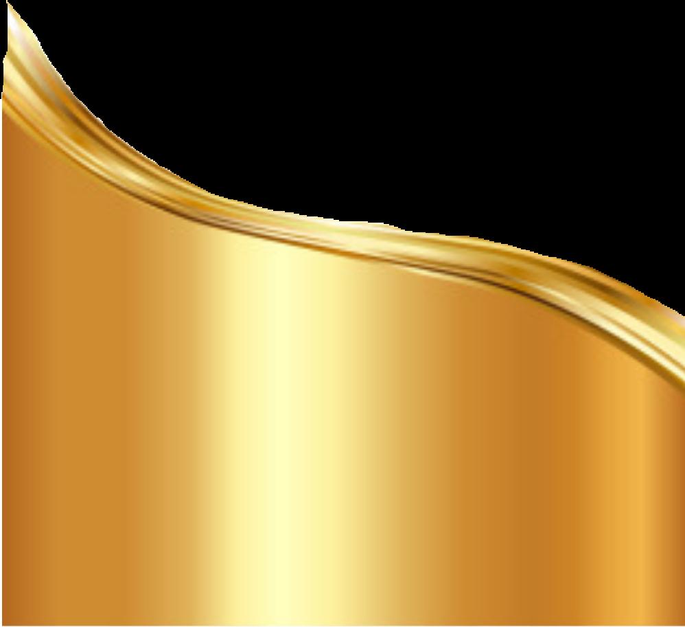 Gold wrap design sticker. Clipart wave yellow