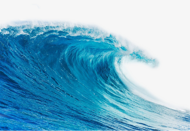 Blue ocean png image. Waves clipart wave power