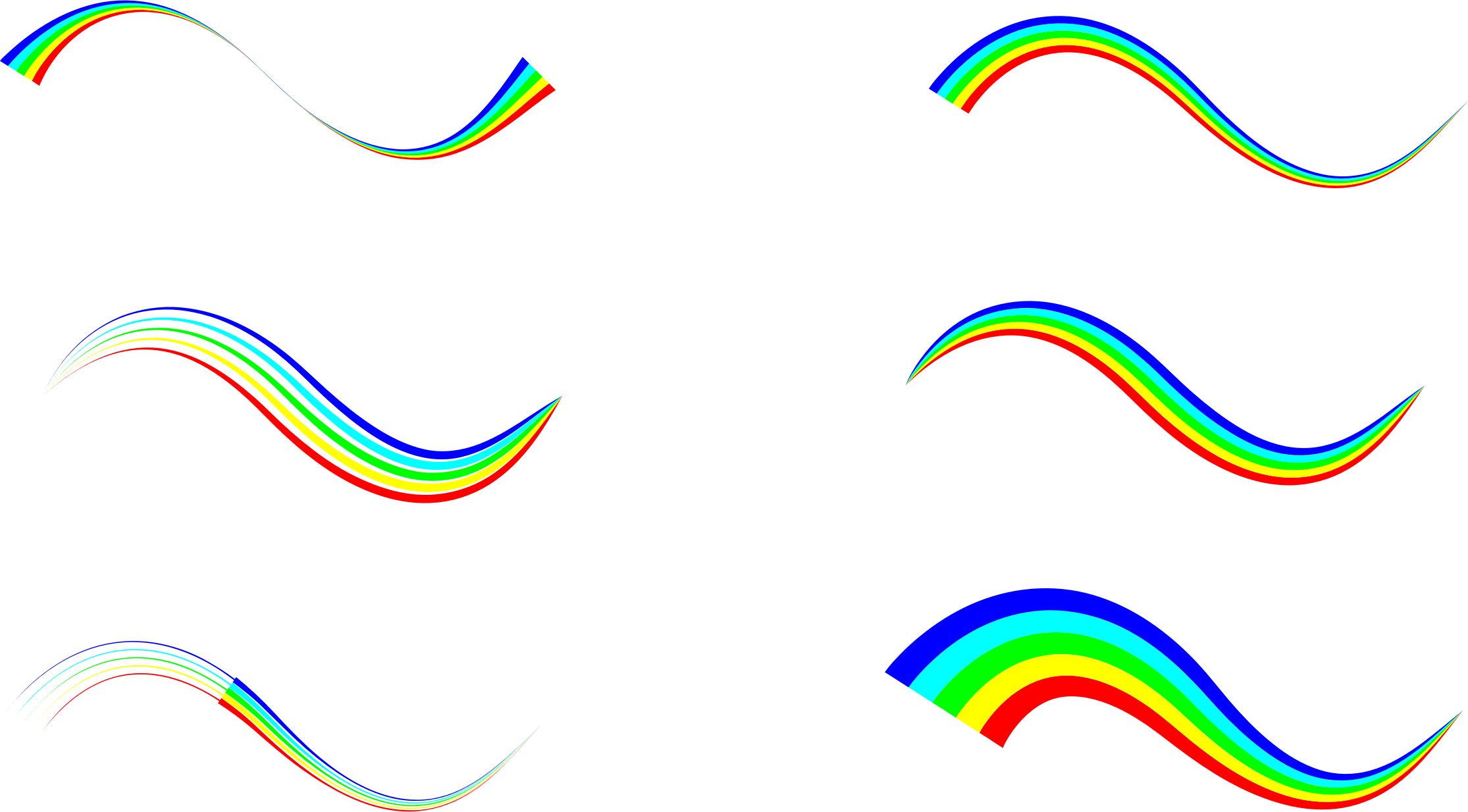 waves clipart line