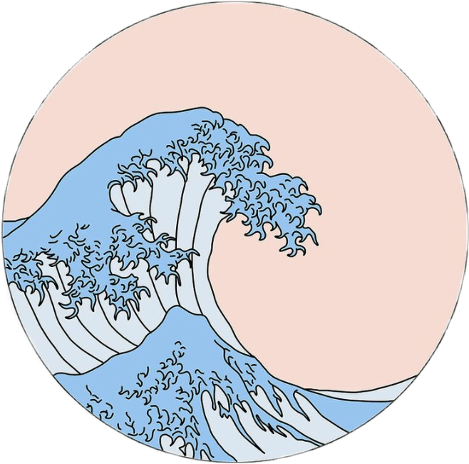 Waves clipart aesthetic. Great icon tumblr