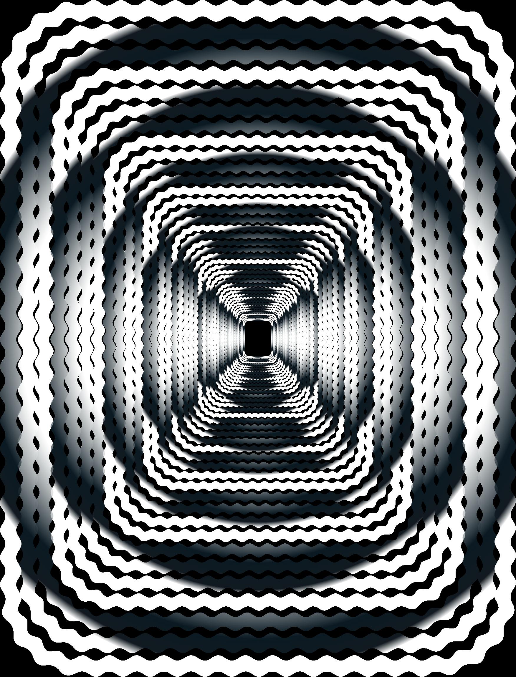 Prismatic wave perspective no. Clipart waves border