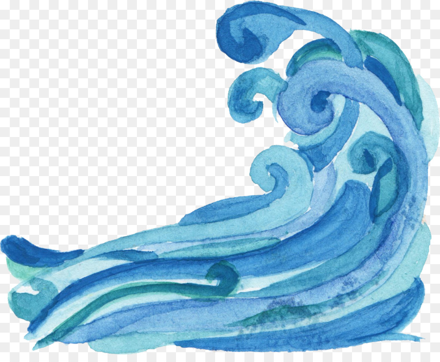 Waves clipart clear background. Dolphin cartoon wave fish