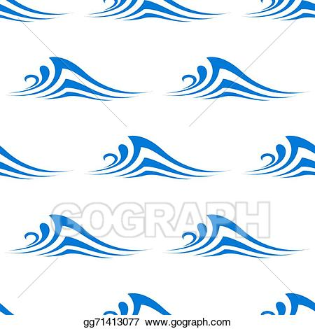 Clipart waves curl. Vector illustration stylized curling