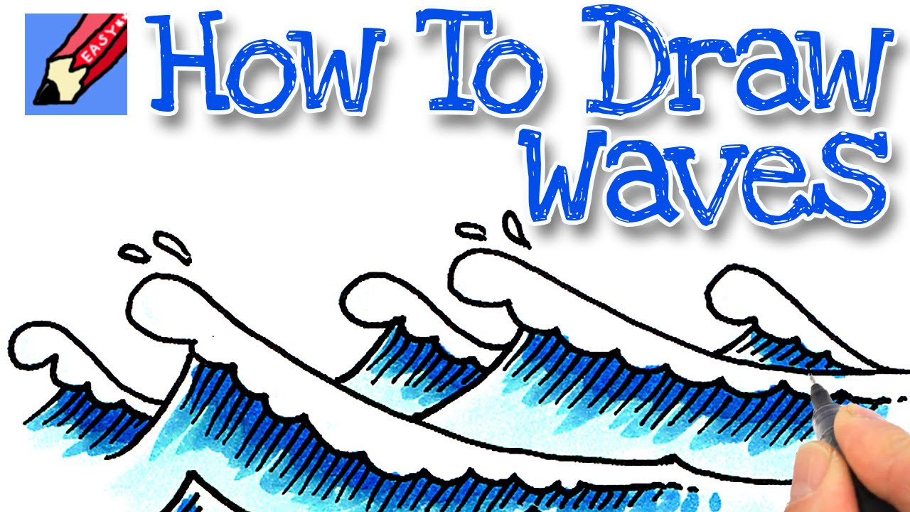 How to draw real. Clipart waves easy