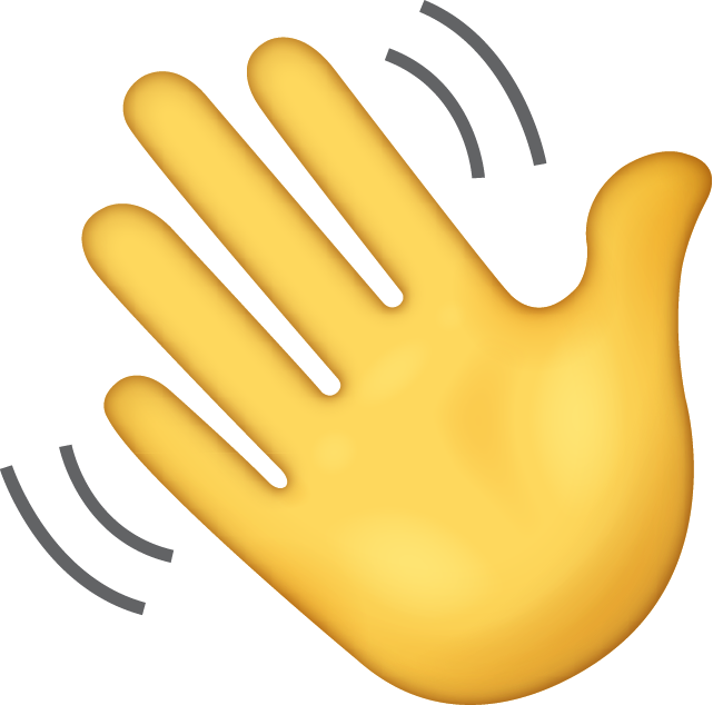 Slots emoji educated sons. Hello clipart wave hand
