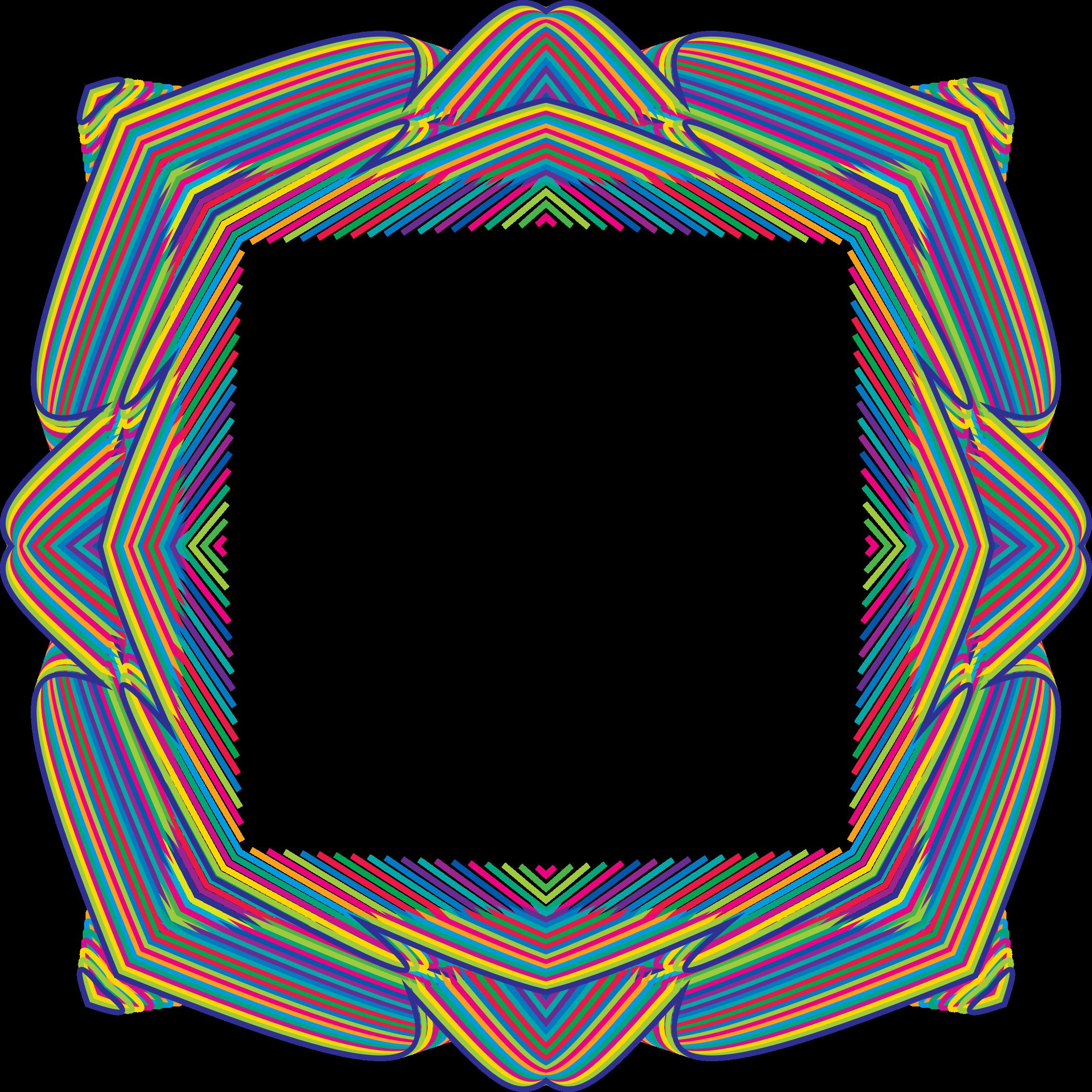 Prismatic big image png. Waves clipart frame
