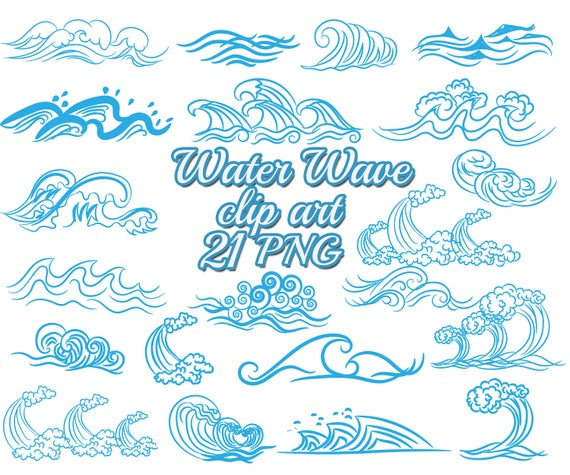 Waves clipart water wave. Blue clip art nautical