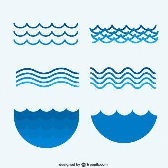 Waves clipart olas. Colecci n de mar