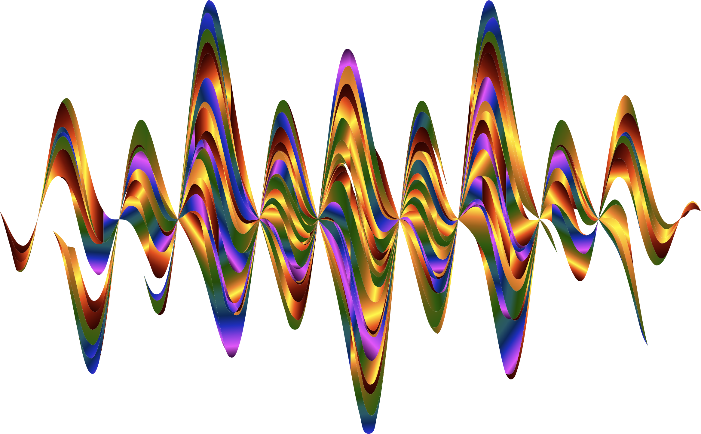 Abstract big image png. Waves clipart rainbow