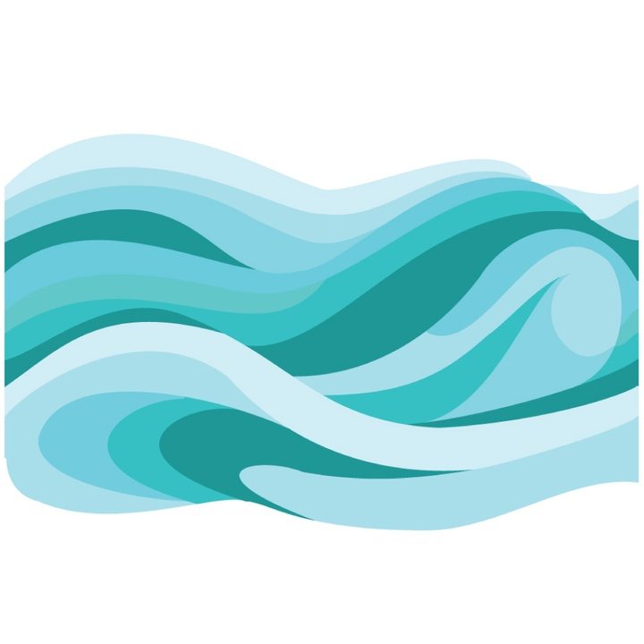 Free ocean wave download. Waves clipart teal