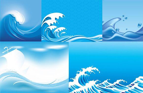 Waves clipart rough wave. Cartoon ocean blue sea