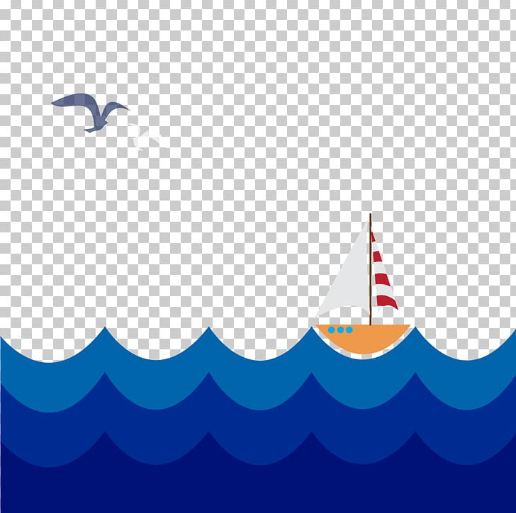 Waves clipart boat. Sailboat png azure blue
