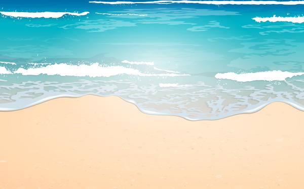 Clipart waves sand. Sky blue sea wave