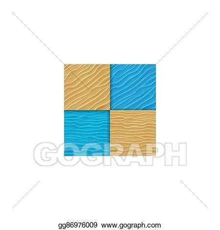 Vector stock set of. Clipart waves sand