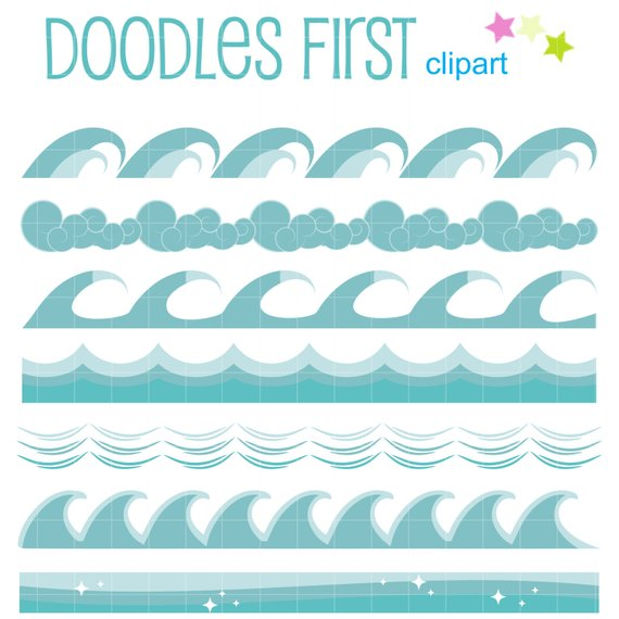 Clipart waves scrapbook. Wave borders clip art