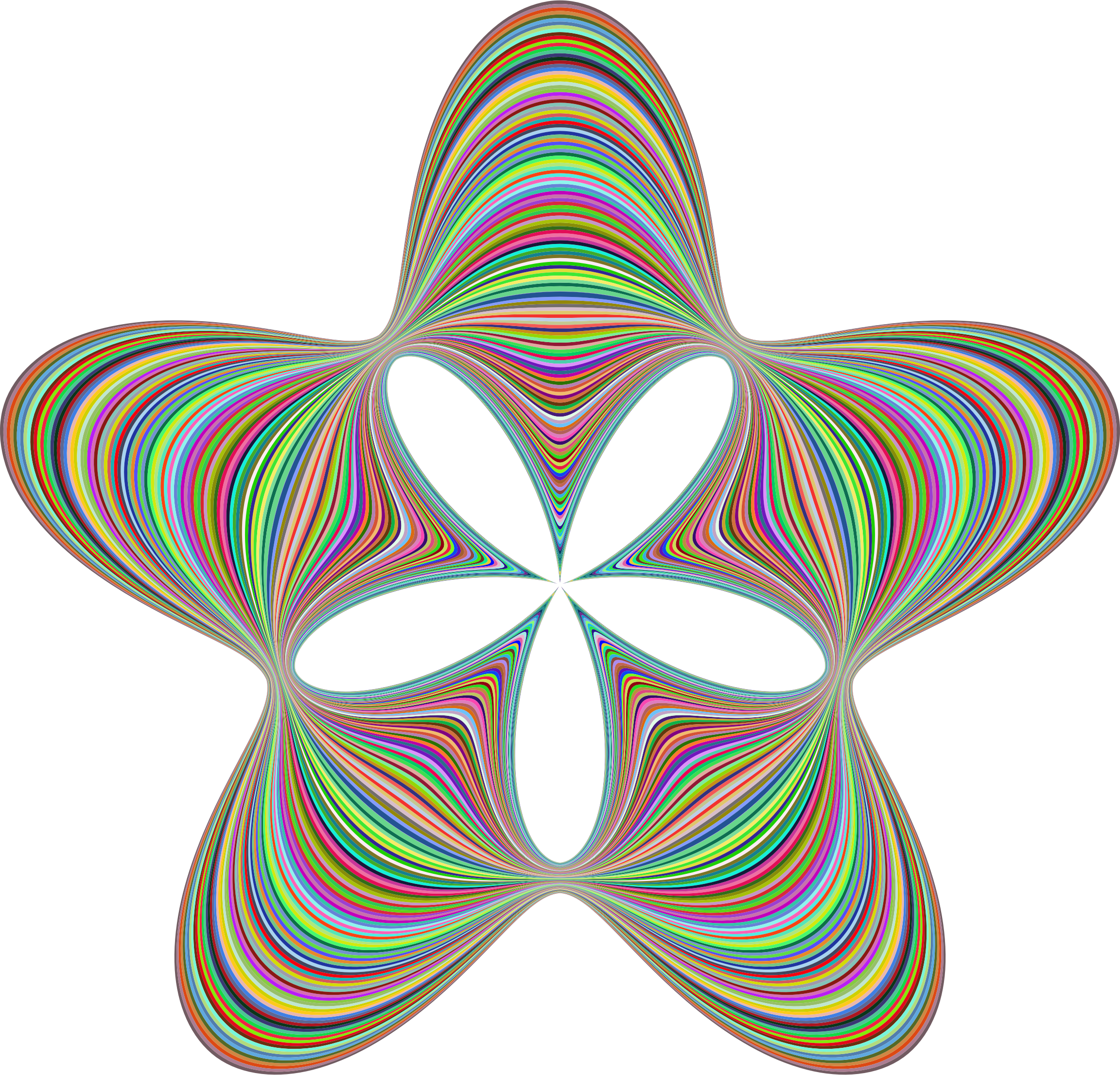 Prismatic big image png. Clipart waves star