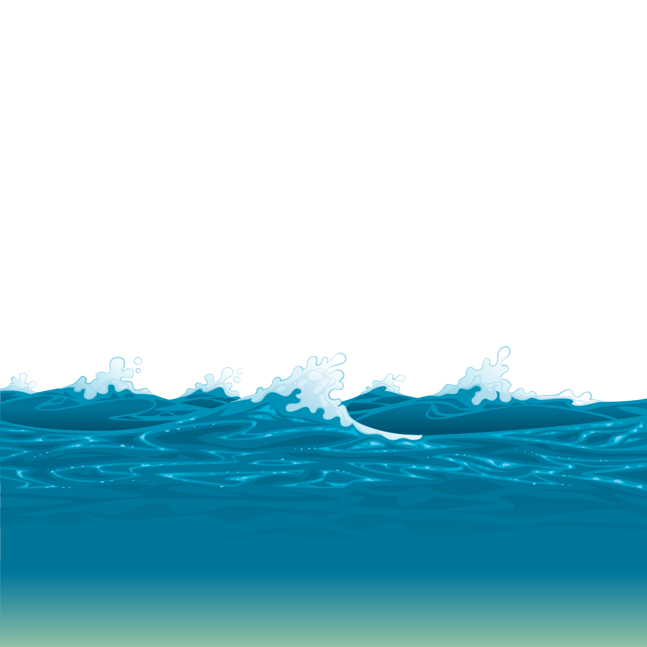 Ocean level water resources. Clipart waves stormy sea