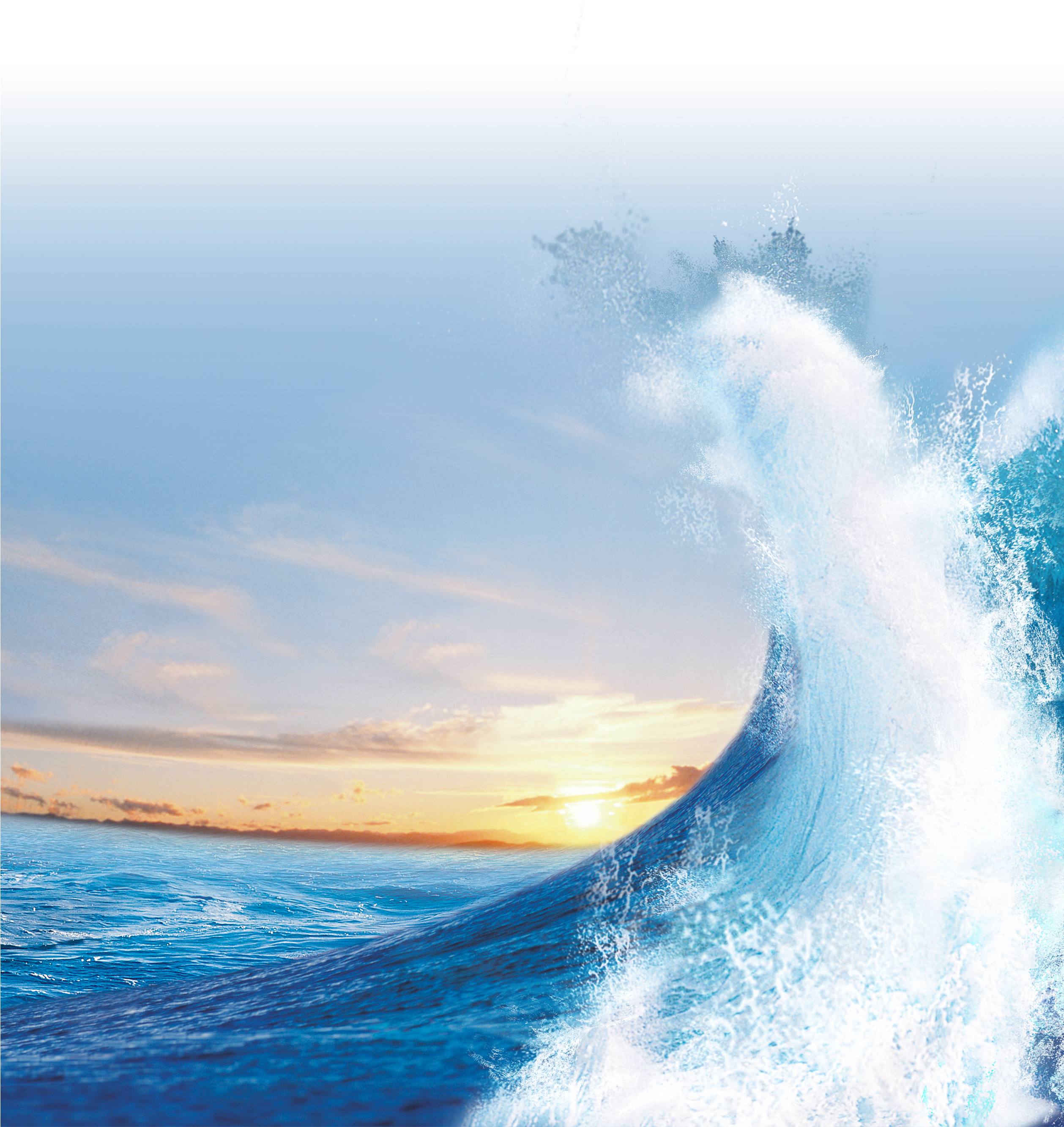 Hd blue light wave. Waves clipart sunset
