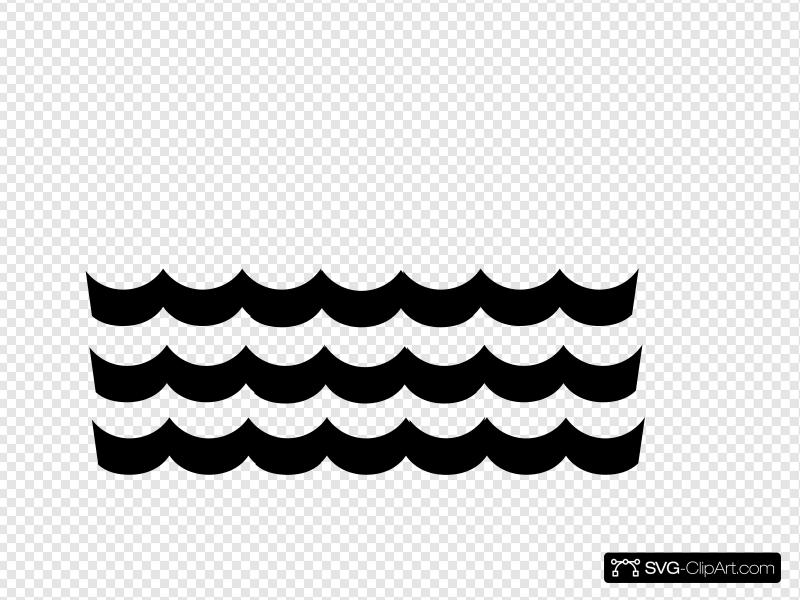 Wave clip art icon. Clipart waves svg