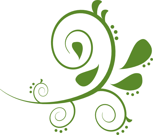 Green paisely clip art. Waves clipart swirl