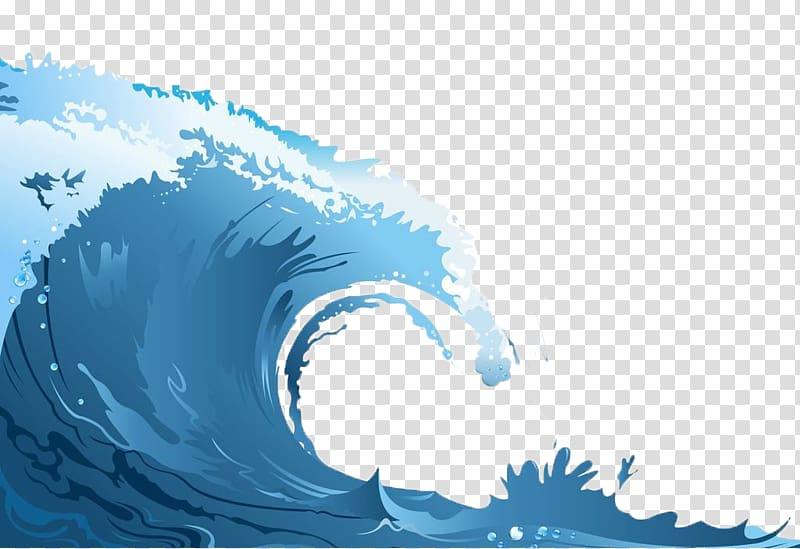 Clipart waves transparent background. Wind wave sea rolling