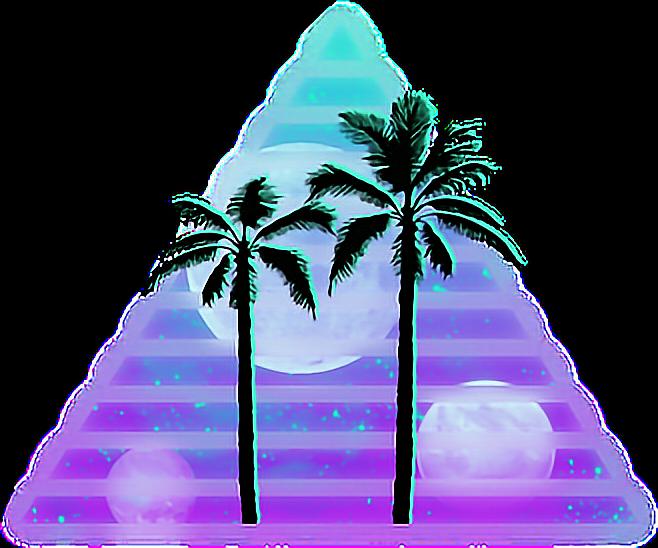 Clipart waves transparent tumblr. Vaporwave drawing art solarized
