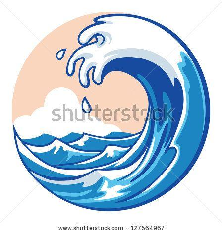 Cartoon surfing stock photos. Waves clipart barrel