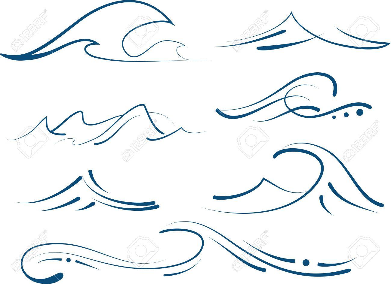 Clipart waves wave hawaiian. Stock vector gift ideas