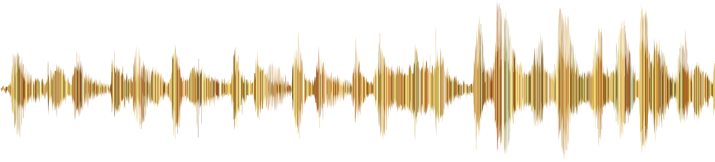 Clipart waves yellow. Gold sound wave no