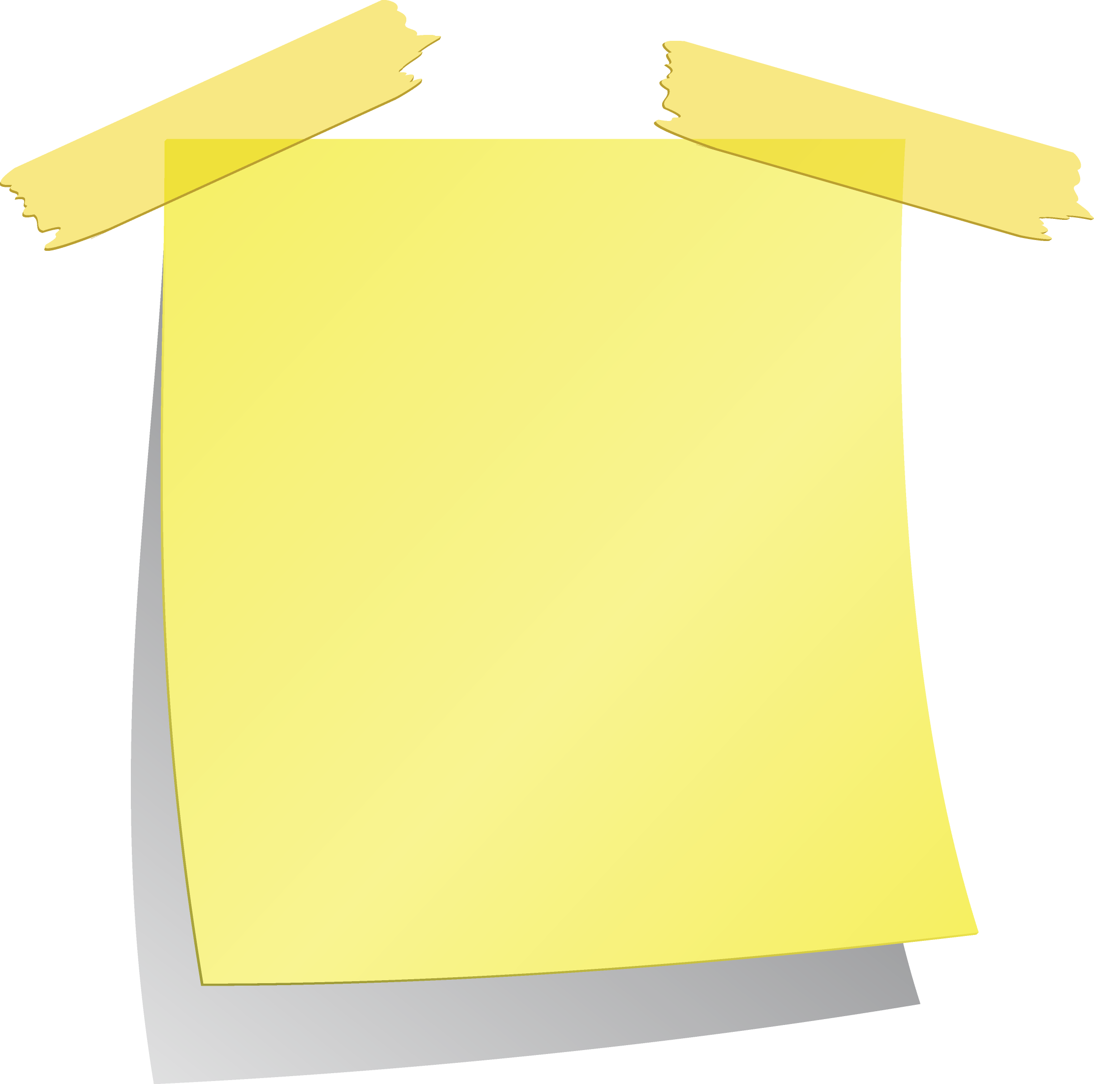 Sticky notes png image. Clipart waves yellow