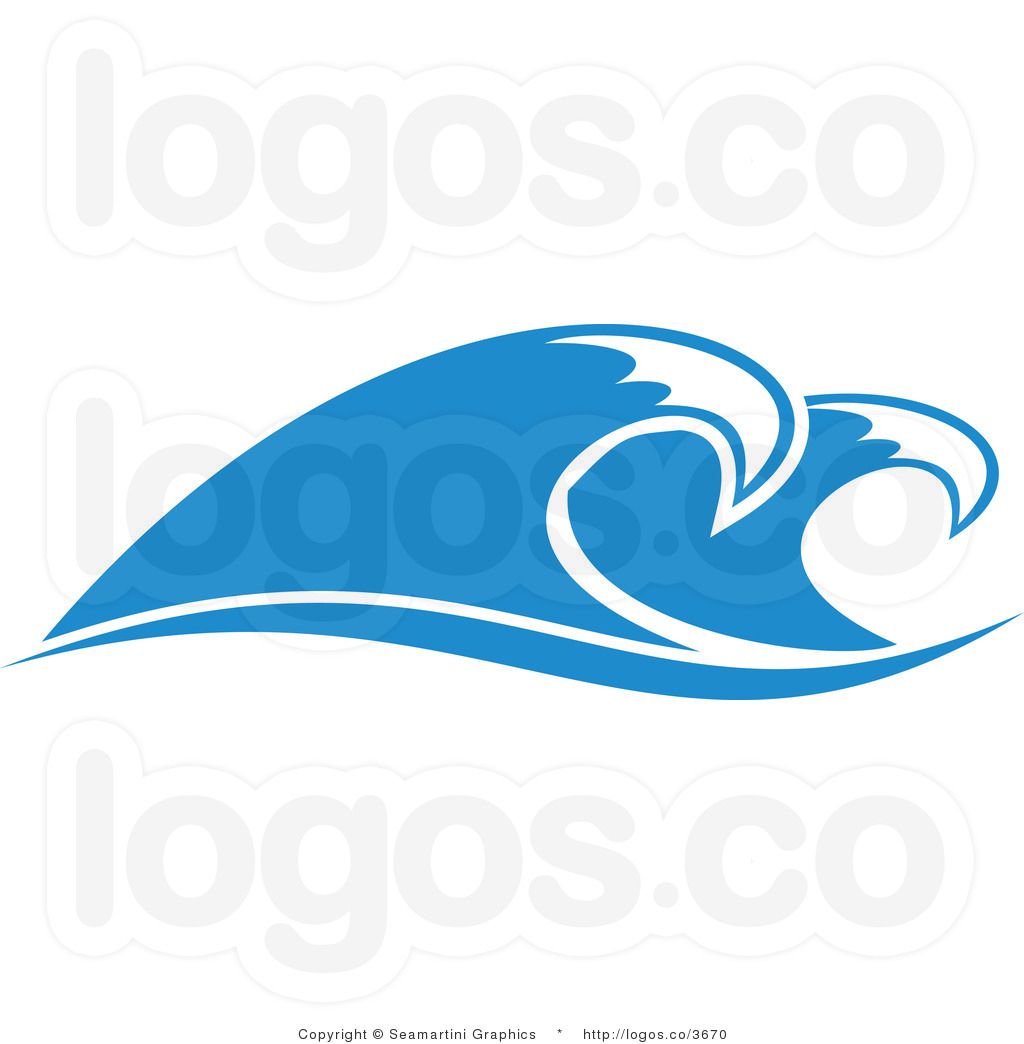 Ocean wave line drawing. Clipart waves
