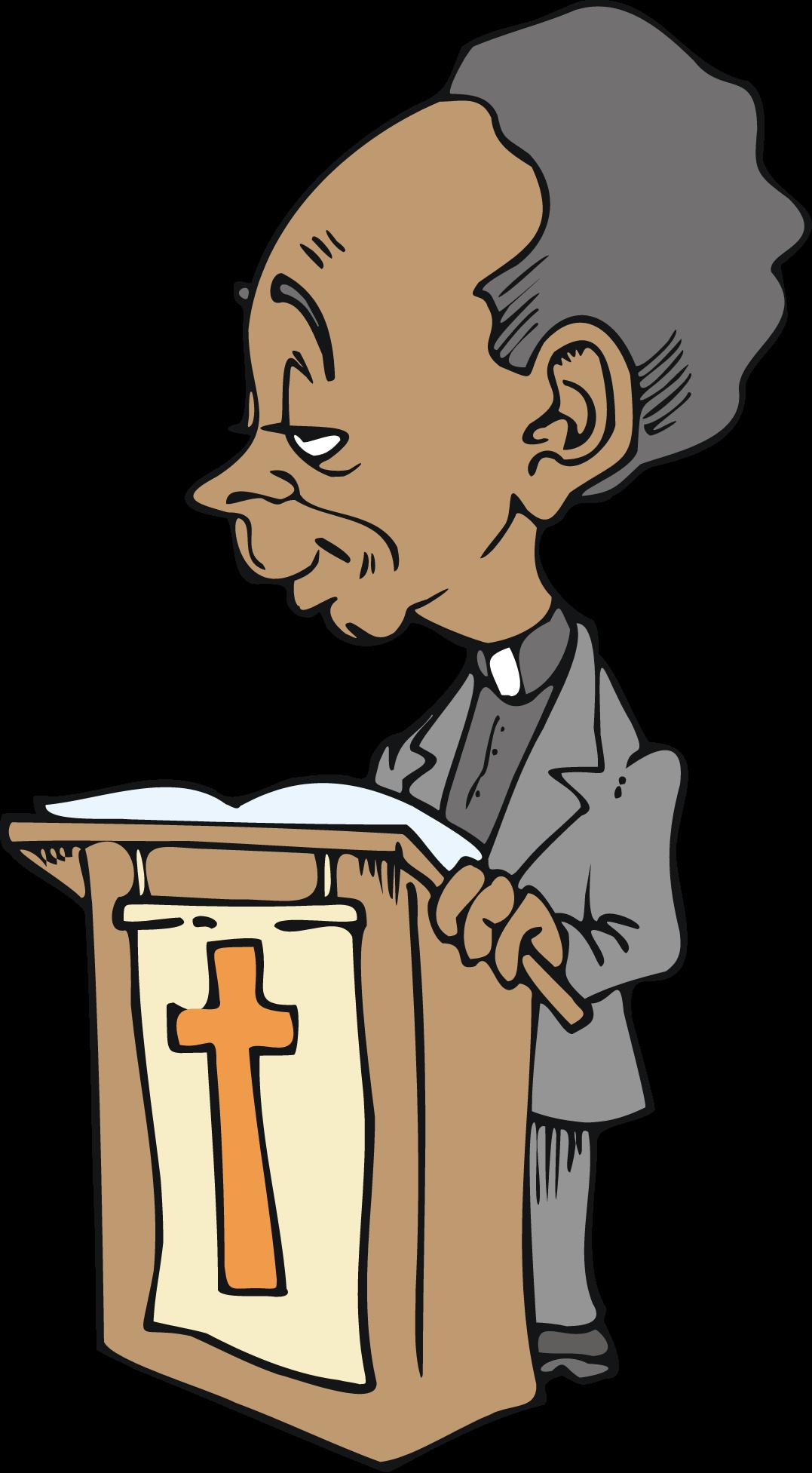 Clipart wedding african american. Free cartoon character preacher