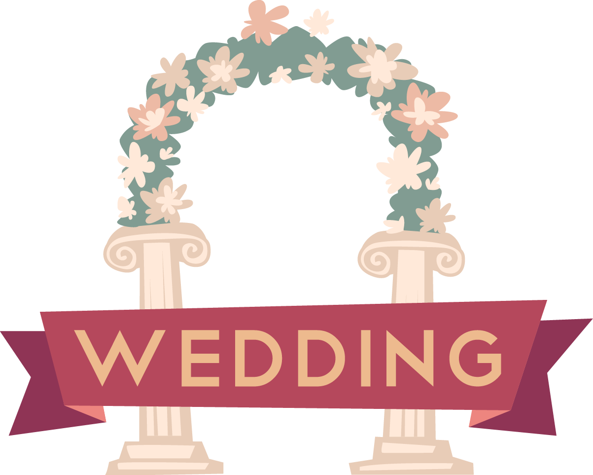Arch wedding cartoon clip. Painting clipart painting logo