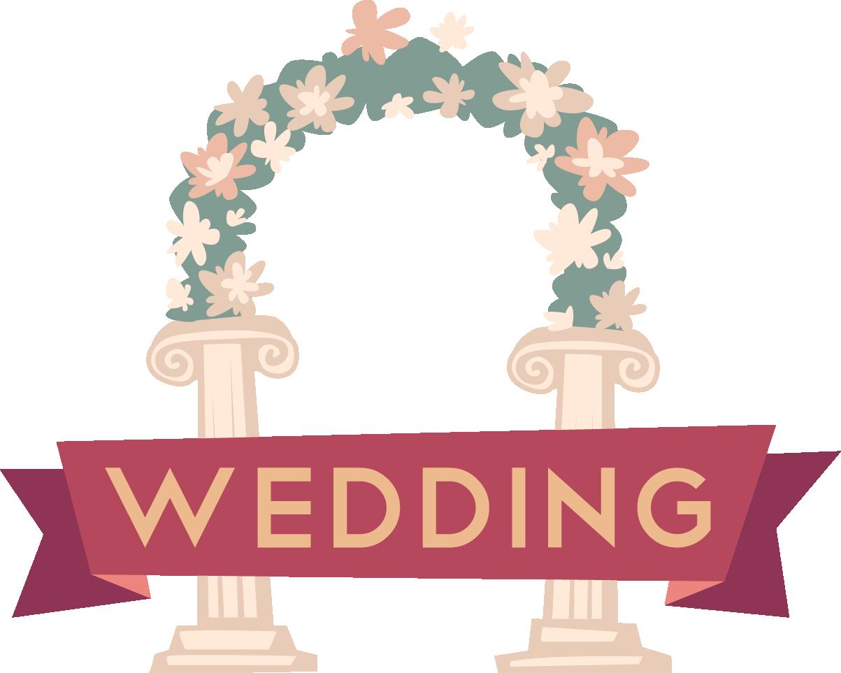 Clipart wedding archway. Arch cartoon clip art