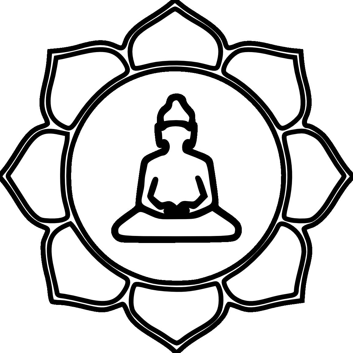 Clipart wedding buddha. Flower color black white