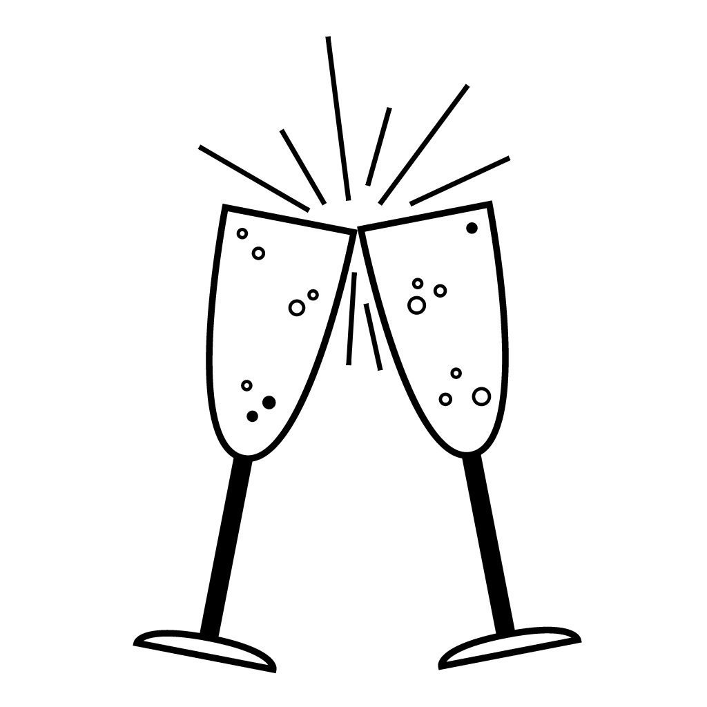 Champagne flute drawing at. Flutes clipart champaigne