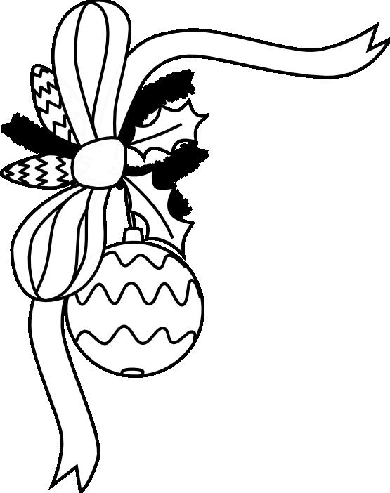 Free christmas clip black. Ornament clipart line art
