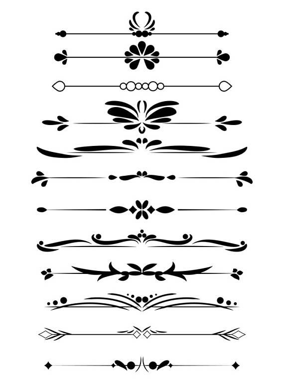 decorative dividers flourish. Divider clipart vintage