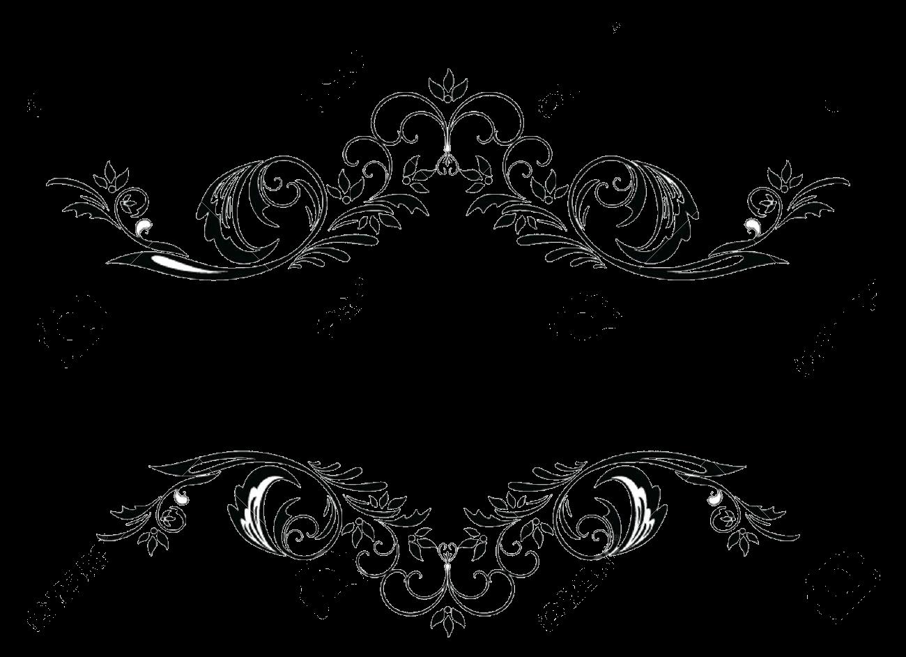 Arabesco swirls and dividers. Ladybug clipart divider