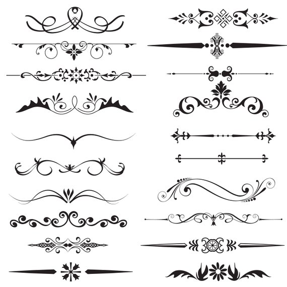 Divider clipart victorian. Page text decorative