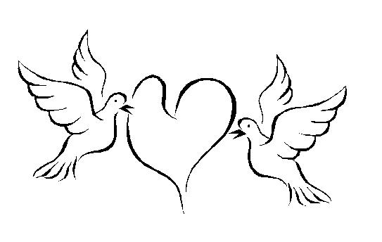 Free wedding doves cliparts. Marriage clipart dove
