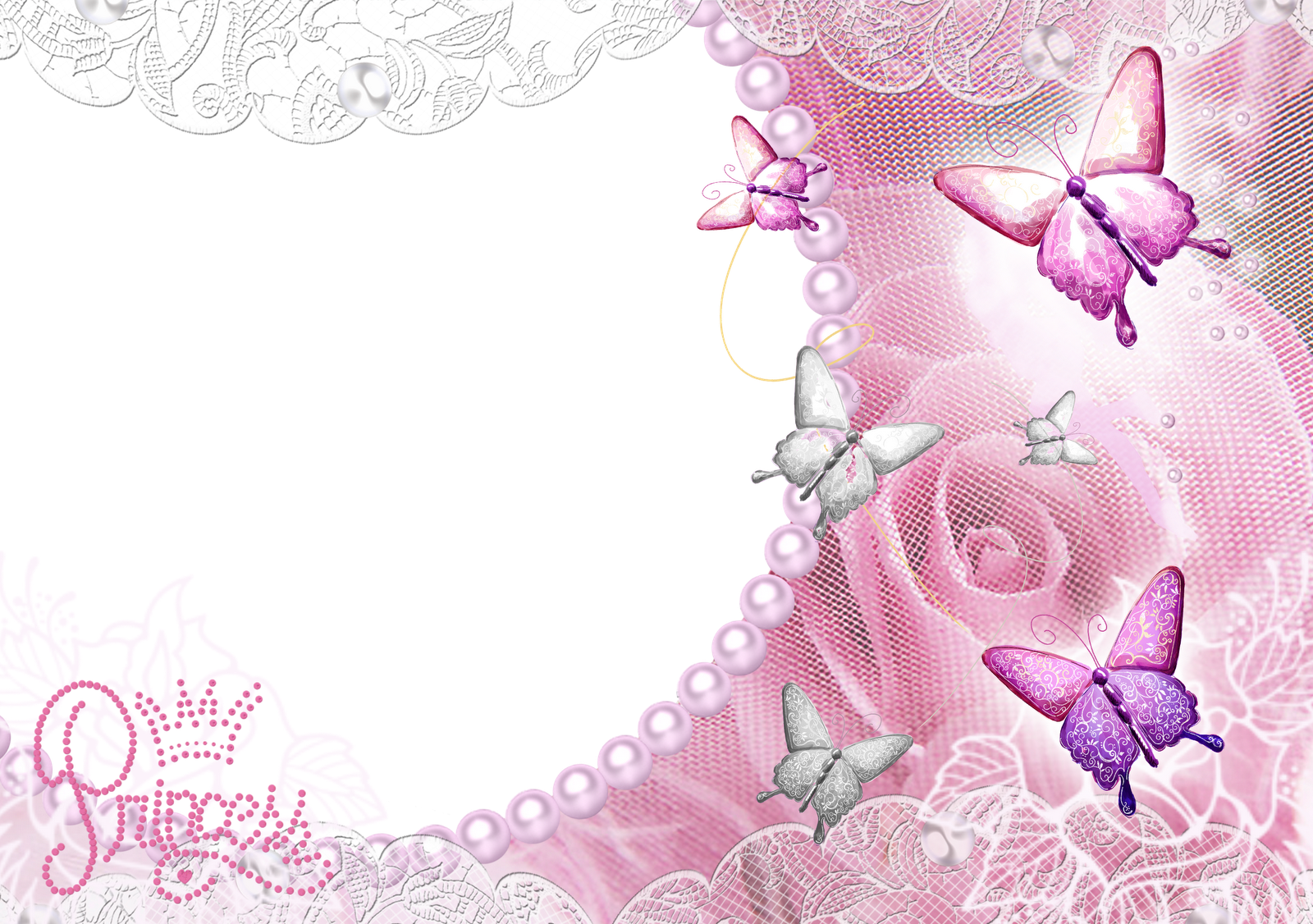 Pink transparent frame with. Clipart wedding dtp