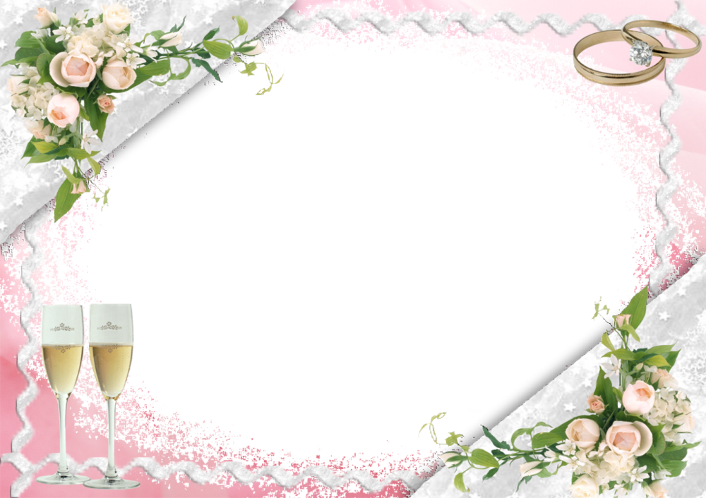 Glass clipart glass frame. Transparent pink wedding with