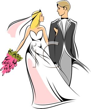 Bride and imagiwedding . Clipart wedding groom