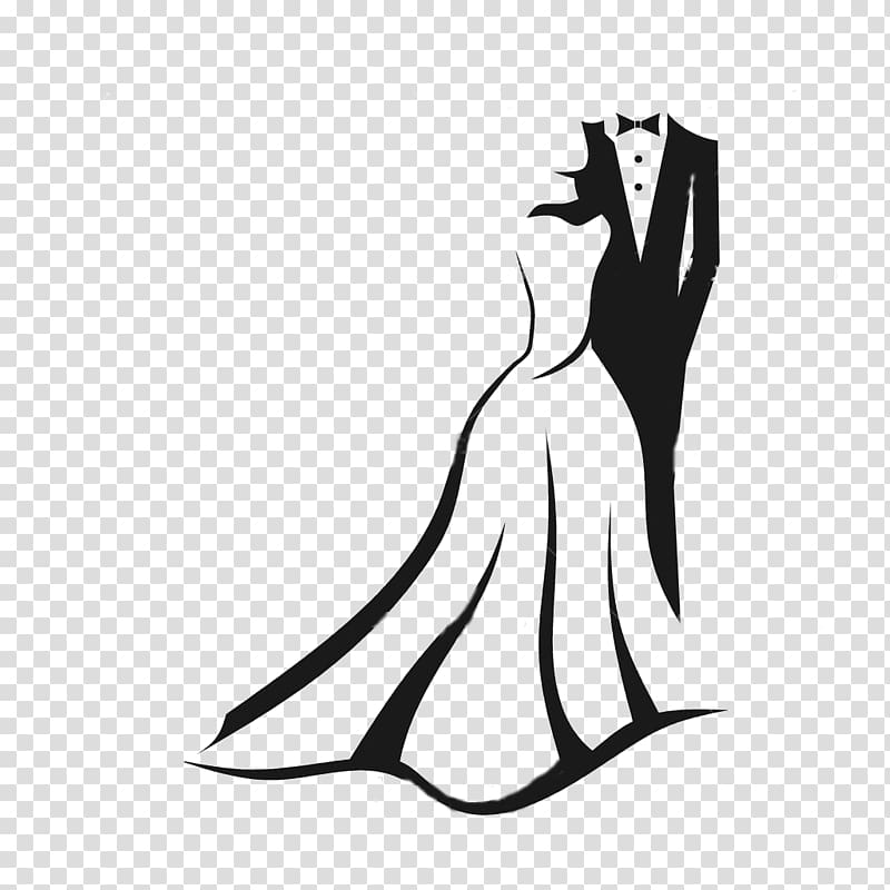 Man and woman formal. Clipart wedding groom