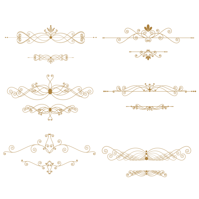 Gold border png pattern. Clipart wedding lace
