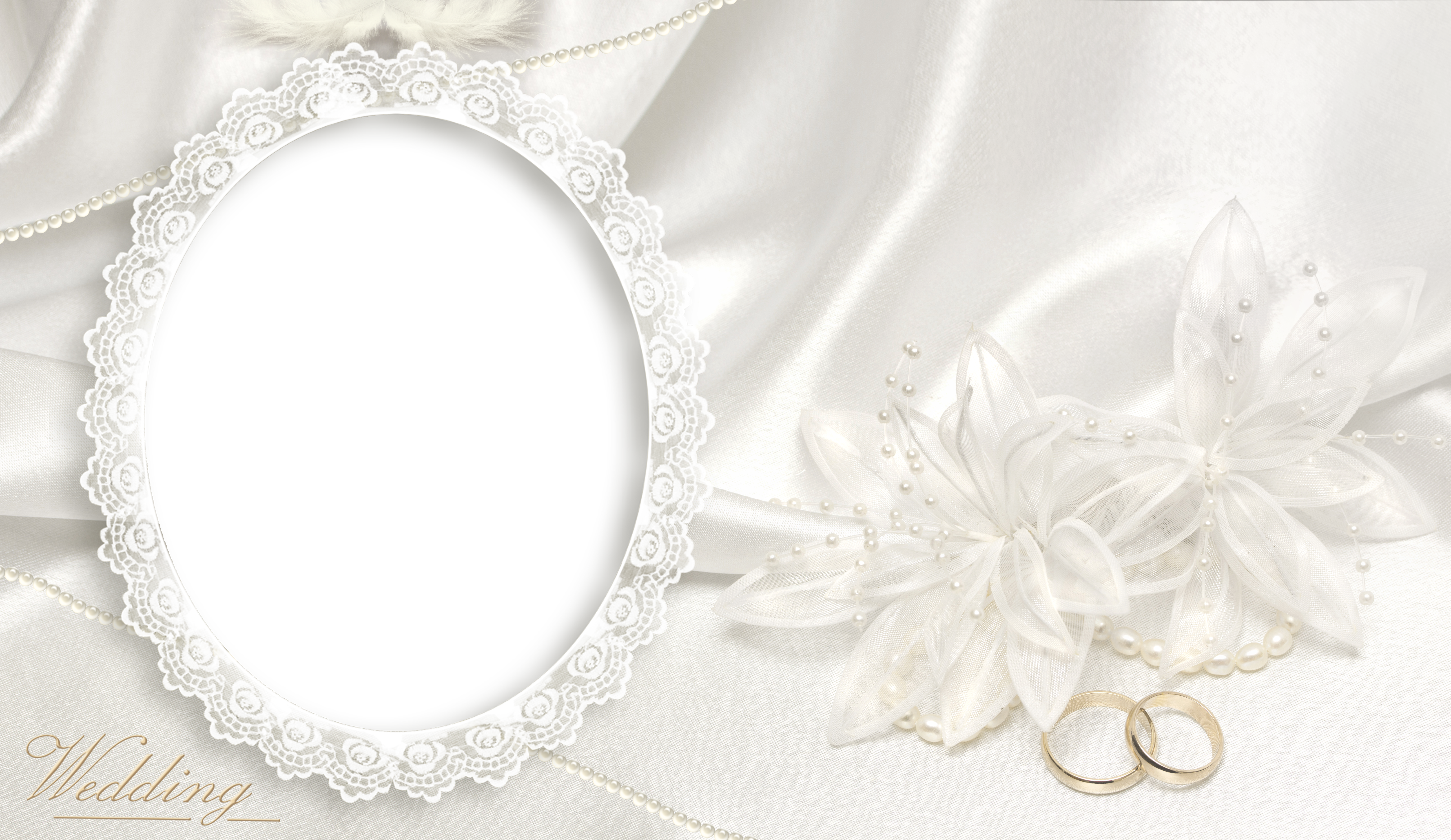 Transparent soft frame gallery. Clipart wedding lace